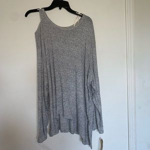 NWT Democracy Knit Top Longsleeve Heather Grey 3X